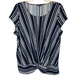 Adrianna Papell Size Large Twist Front Top Stretch